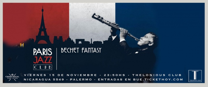 PARIS JAZZ CLUB presenta BECHET FANTASY (15/11)