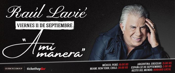 Raúl Lavié presenta A mi Manera