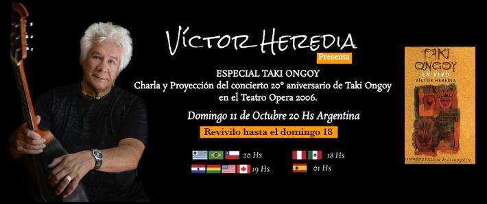 VICTOR HEREDIA presenta ESPECIAL TAKI ONGOY