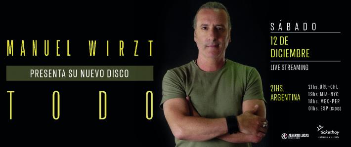 Manuel Wirzt  presenta su nuevo disco: Todo